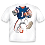 Football Blue/Orange/White 461