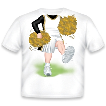 Cheerleader White/Black/Gold 484