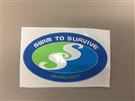 Swim to Survive Color Sticker each