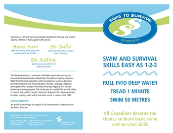 Swim To Survive Brochure ( 50pk )
