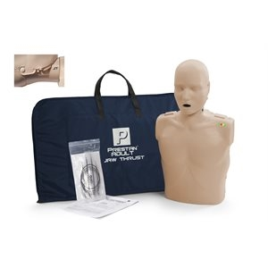 Prestan Professional Adult Jaw Thrust CPR-AED Training Manikin (w Monitor)