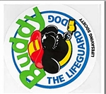 Buddy the Lifeguard Dog Stickers ( Roll of 100 )