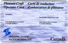 Pleasure Craft Operator Card (replacement)