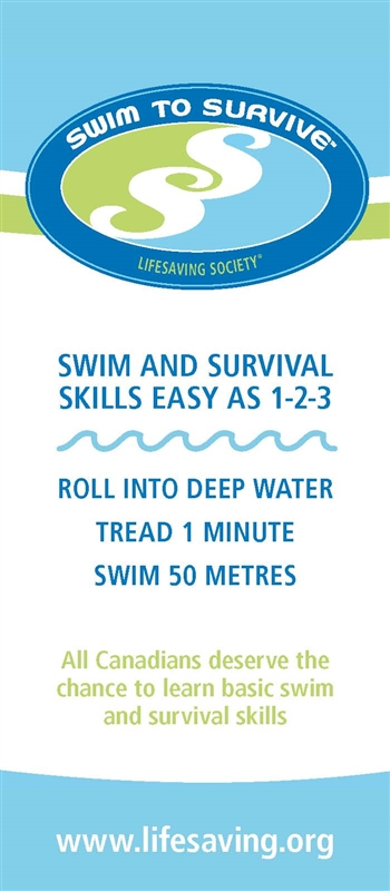 Swim to Survive Rack Card 100pk