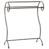 Pictured here is the hand-forged Waterbury Quilt Rack with 3 bars and natural black finish.