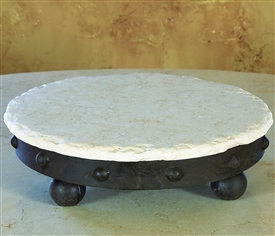 Wrought Iron Milan Lazy Susan by Bella Toscana
