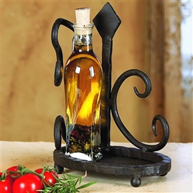 Pictured here is the Wrought Iron Siena Dispenser Holder from Bella Toscana