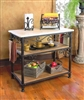 Pictured here is the Wrought Iron Siena Kitchen Island by Bella Toscana