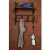 Pictured here is the Wrought iron Siena Coat Rack with a reclaimed wood shelf