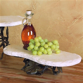 Pictured here is the Wrought Iron Short Boulder Server by Bella Toscana