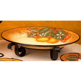 Pictured here is the Wrought Iron Amalfi Mercato Server by Bella Toscana