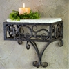 Pictured here is the Wrought Iron Siena Wall Shelf by Bella Toscana
