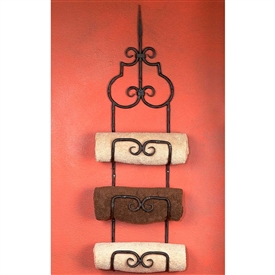 Wrought Iron Siena Triple Towel Rack by Bella Toscana
