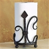 Pictured here is the Wrought Iron Siena Paper Towel Holder by Bella Toscana