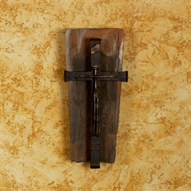 Wrought Iron Tile Crucifix Cross by Bella Toscana