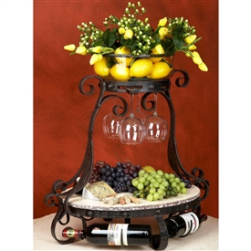Wrought Iron Amalfi Wine Cheese Server by Bella Toscana
