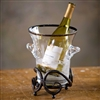 Pictured here is the Wrought Iron Siena Table Wine Chiller by Bella Toscana