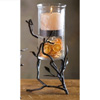 Wrought Iron Fruitwood Tall Hurricane by Bella Toscana