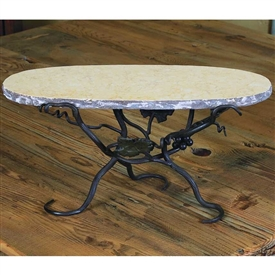 Pictured here is the Vineyard Raised Oval Marble Server by Bella Toscana