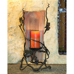 Wrought Iron Tile Candle Holder by Bella Toscana