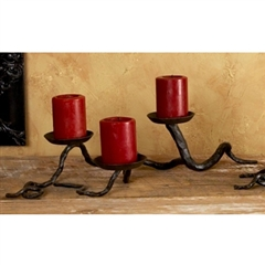Wrought Iron Branch Triple Candleholder by Bella Toscana