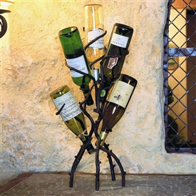 Wrought Iron Wine Tree holds 5 Bottle by Bella Toscana
