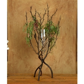 Wrought Iron Twig Large Vase by Bella Toscana