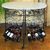 Pictured here is the Wrought Iron Oval Celebration Table by Bella Toscana
