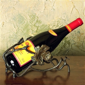 Pictured here is the Wrought Iron Wine Bottle Cradle by Bella Toscana