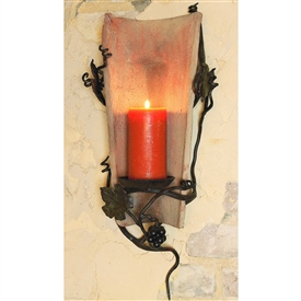 Wrought Iron Tile Sconce by Bella Toscana