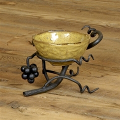 Wrought Iron Vineyard Bowl Server by Bella Toscana