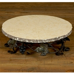 Wrought Iron Marble Lazy Susan by Bella Toscana