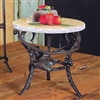 Pictured here is the Vineyard Raised Round Marble Server by Bella Toscana