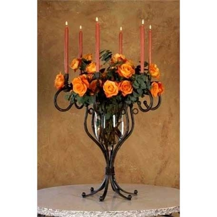 Wrought Iron Tabletop Candelabra by Bella Toscana