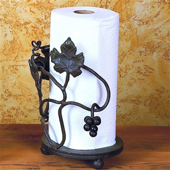 Wrought Iron Grape Vine Paper Towel Holder by Bella Toscana