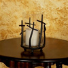 Wrought Iron Rustic Cross Candleholder by Bella Toscana