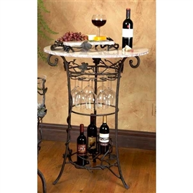 Pictured here is the Vineyard Wine Tasting Table by Bella Toscana