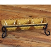 Pictured here is the Wrought Iron Villa Triple Server by Bella Toscana