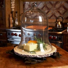 Wrought Iron Marble Cloche Stand by Bella Toscana
