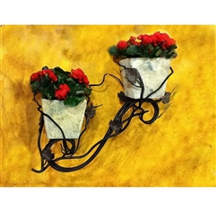 Wrought Iron Vineyard Double Wall Planter by Bella Toscana