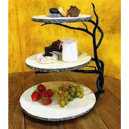 Pictured here is the Wrought Iron Twig 3-Tier Server by Bella Toscana