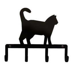 Wrought Iron Cat Key Holder