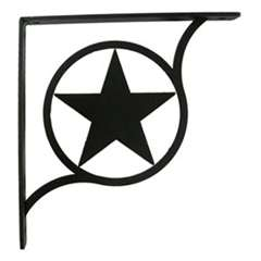 Wrought Iron Western Star Shelf Brackets