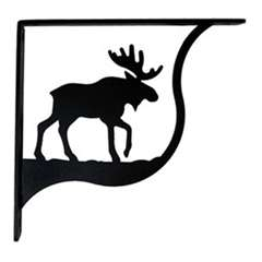 Wrought Iron Moose Shelf Brackets