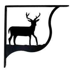 Wrought Iron Deer Shelf Brackets