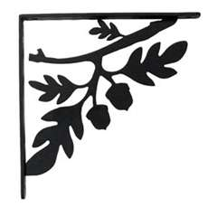 Wrought Iron Acorn Shelf Brackets
