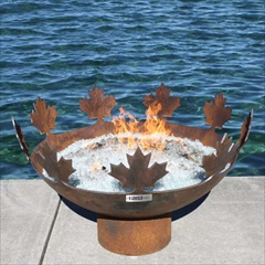 "Big Bowl O Canada 37"" Diameter Outdoor Firebowl by John T. Unger"
