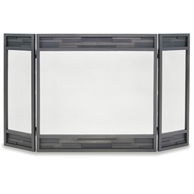 Pictured here is the Lanier 3 Panel Fireplace Screen with folding 10 inch sides from Pilgrim.