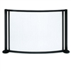 Bowed Panorama Fireplace Screen made by Pilgrim Home and Hearth, sold at Timeless Wrought Iron