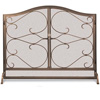 Pictured here is the Wrought Iron Iron Gate Arched Fireplace Screen with Doors by Pilgrim
